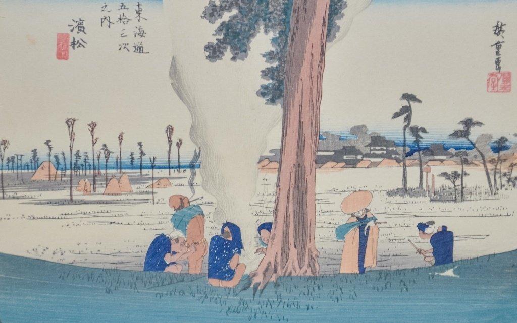 Hiroshige Woodblock Tokaido Highway Hamamatsu - 2