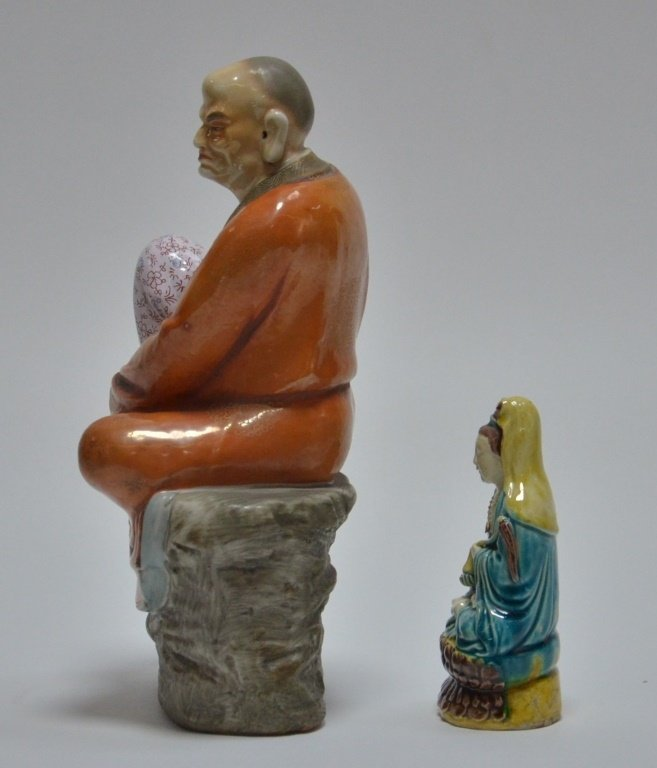 2 Chinese Porcelain Guanyin Immortal Figures - 2