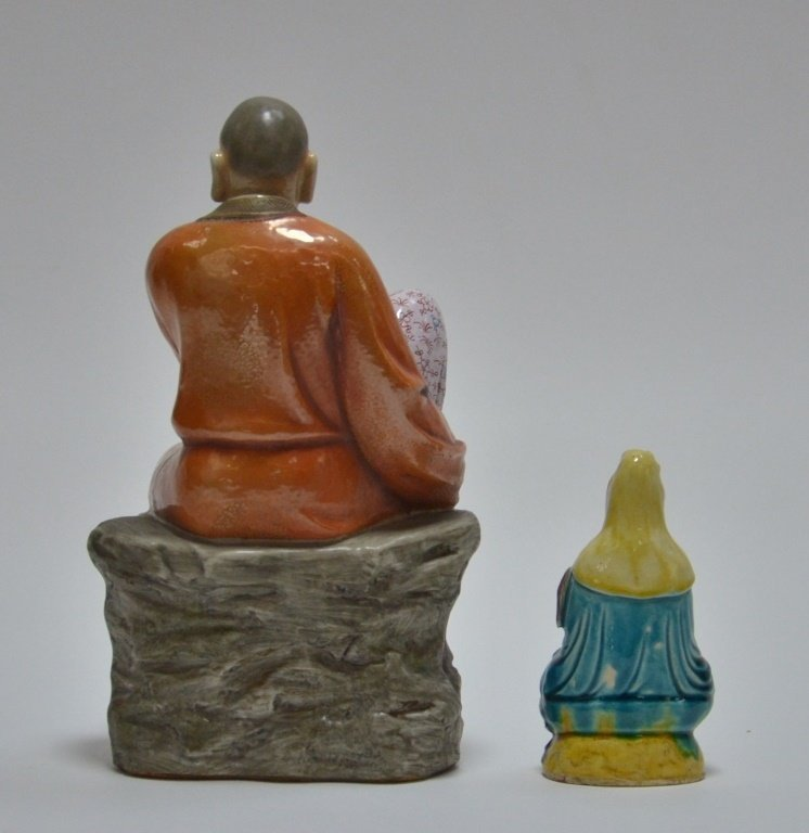 2 Chinese Porcelain Guanyin Immortal Figures - 3
