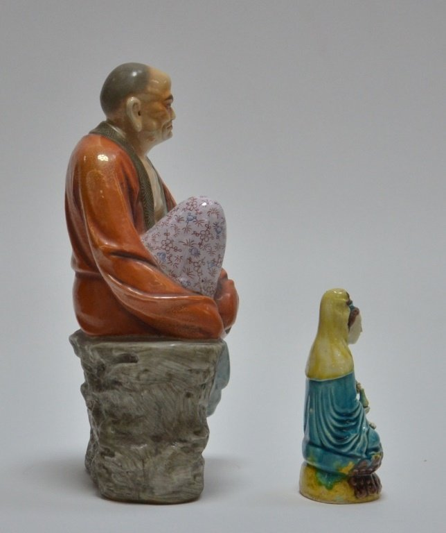 2 Chinese Porcelain Guanyin Immortal Figures - 4