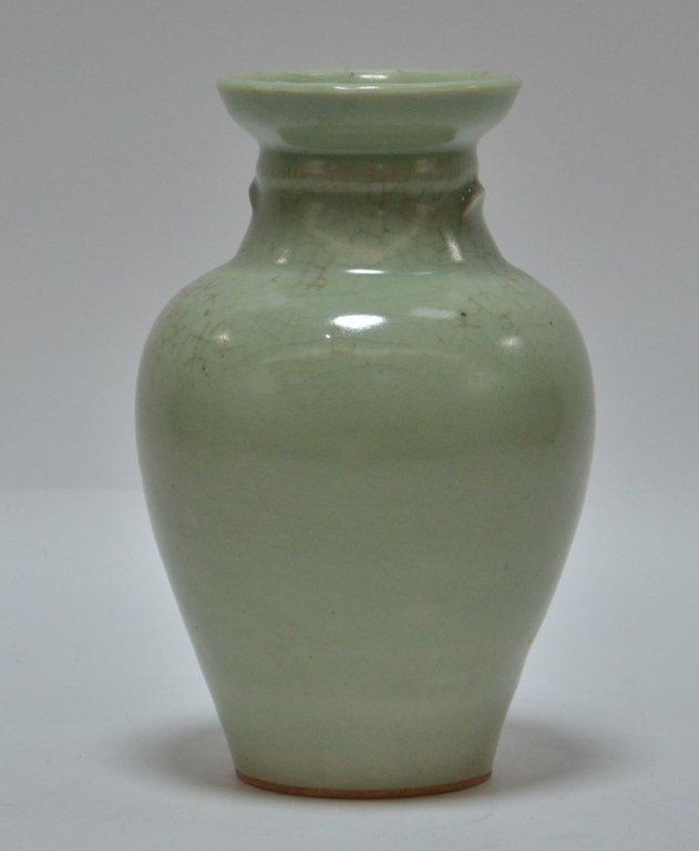 Chinese Crackle Celadon Porcelain Vase