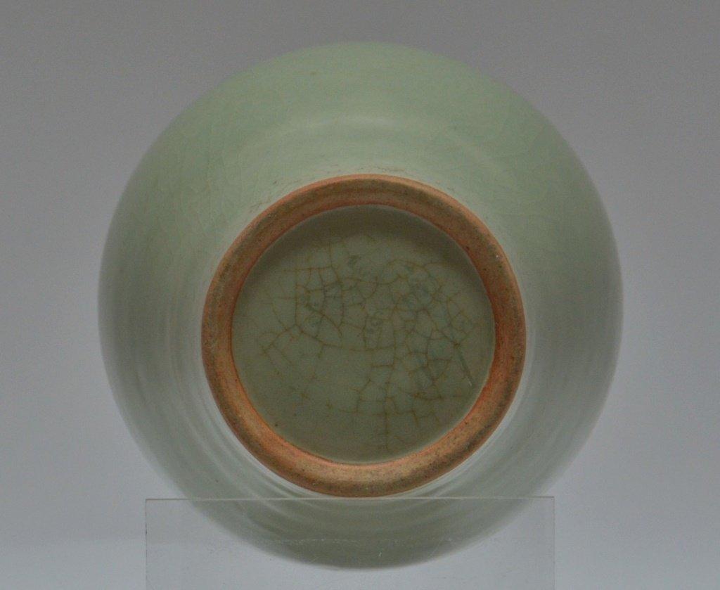 Chinese Crackle Celadon Porcelain Vase - 3
