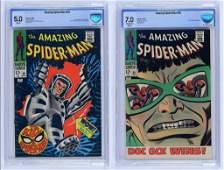 2 CBCS Graded Marvel Amazing Spider-Man 55 58