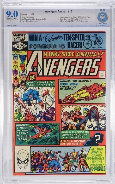 Marvel Comics Avengers Annual No. 10 CBCS 9.0
