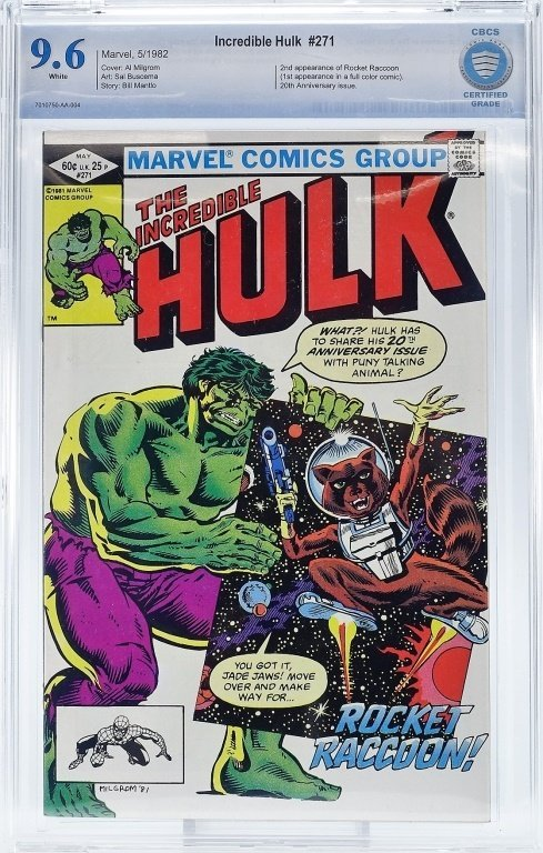 Marvel Comics Incredible Hulk No. 271 CBCS 9.6