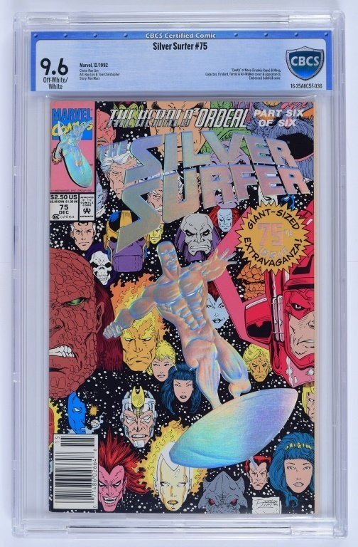 Marvel Comics Silver Surfer No. 75 CBCS 9.6
