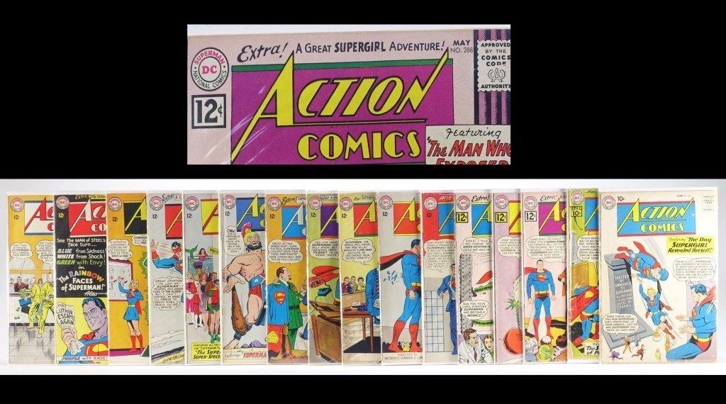 16 Silver Age D.C Action Comics No. 265-322