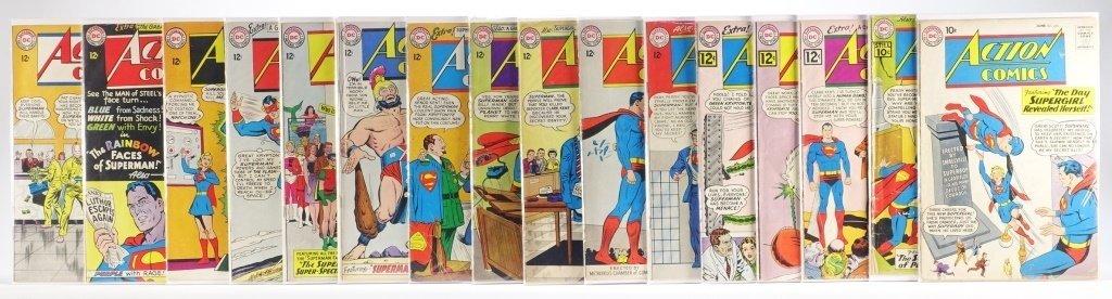 16 Silver Age D.C Action Comics No. 265-322 - 2