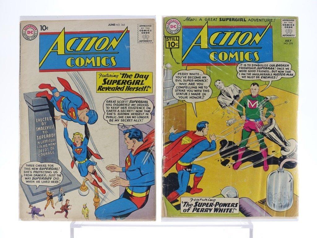16 Silver Age D.C Action Comics No. 265-322 - 3