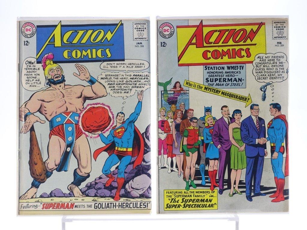 16 Silver Age D.C Action Comics No. 265-322 - 8