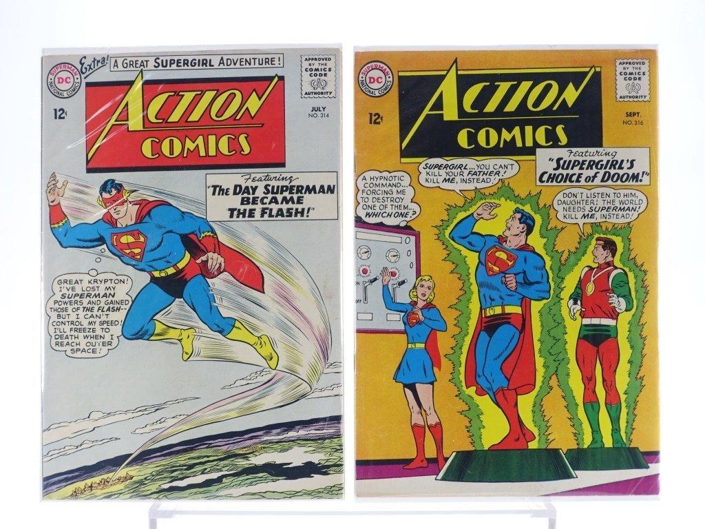 16 Silver Age D.C Action Comics No. 265-322 - 9