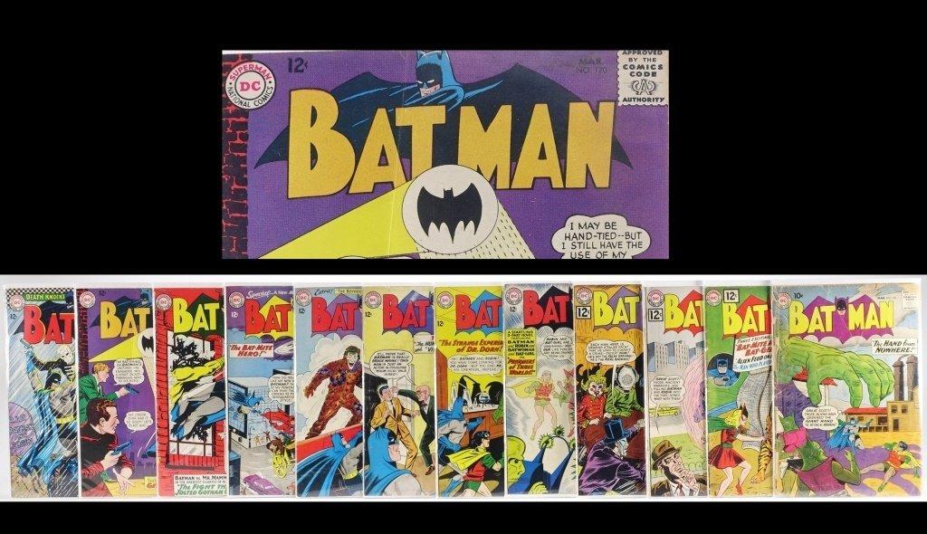 12 Silver Age D.C Batman Comics No. 130-180