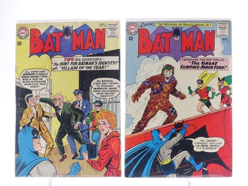 12 Silver Age D.C Batman Comics No. 130-180 - 6