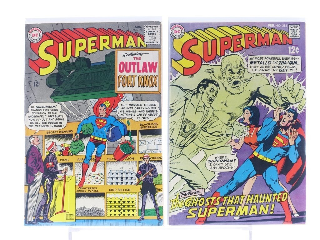 16 Silver Age D.C Superman Comics No. 138-214 - 10