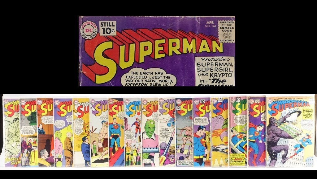 16 Silver Age D.C Superman Comics No. 138-214