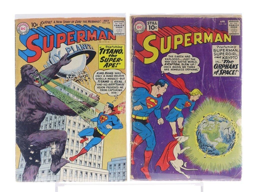 16 Silver Age D.C Superman Comics No. 138-214 - 3