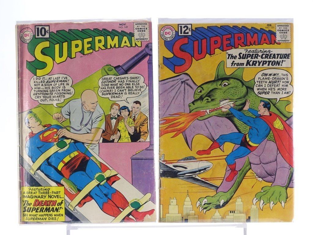 16 Silver Age D.C Superman Comics No. 138-214 - 4