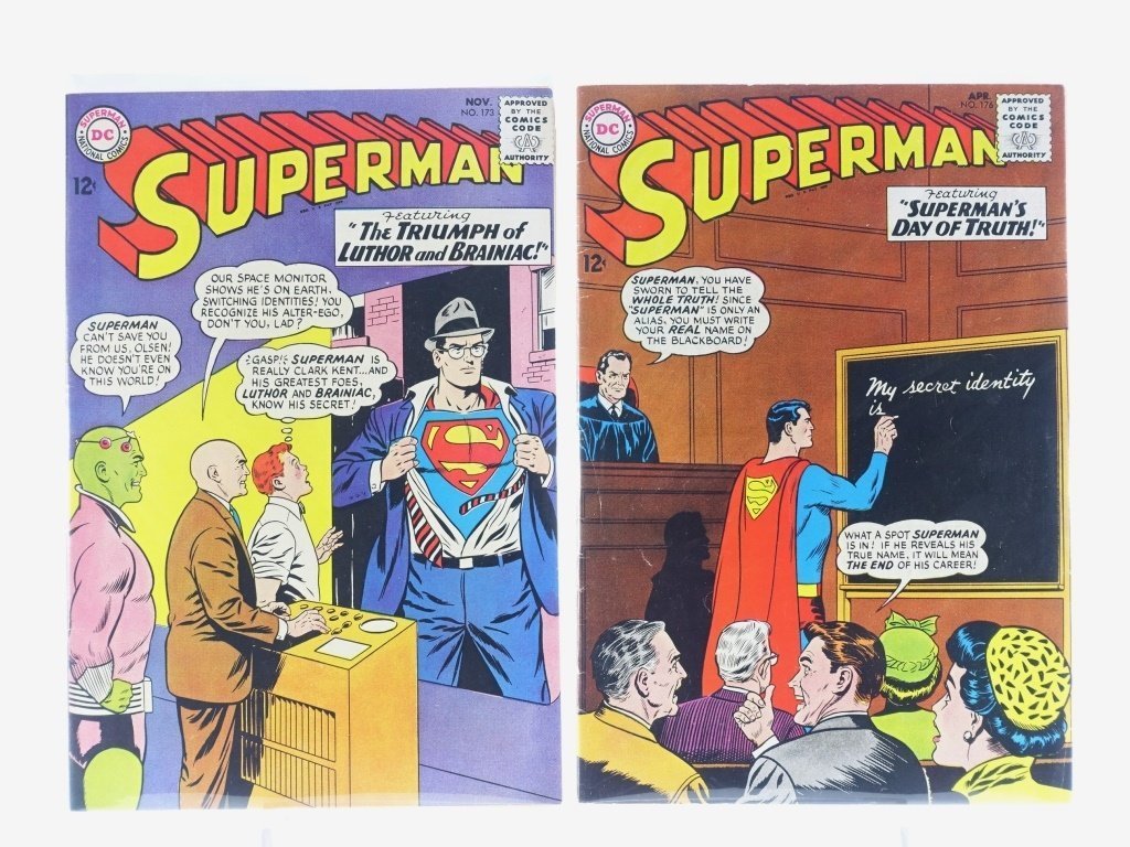 16 Silver Age D.C Superman Comics No. 138-214 - 9