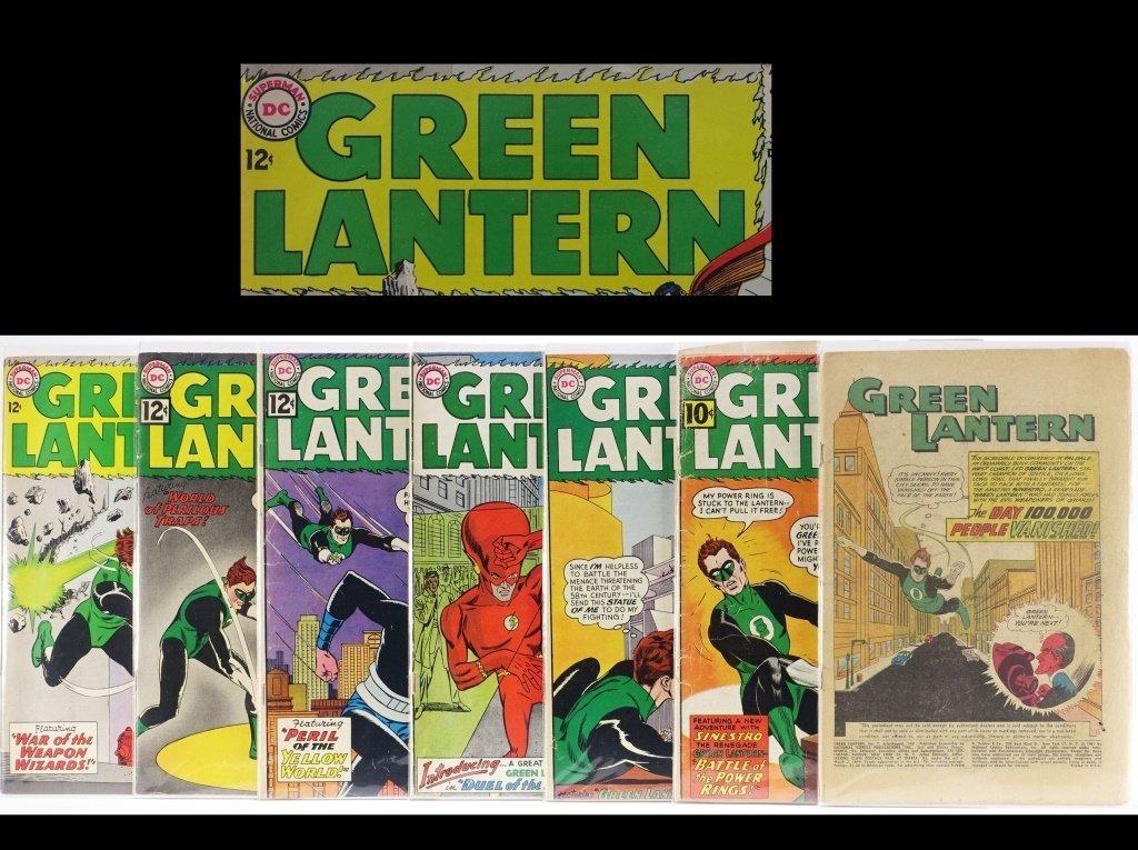 7 Silver Age D.C Green Lantern Comics No. 7-25