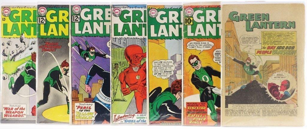 7 Silver Age D.C Green Lantern Comics No. 7-25 - 2