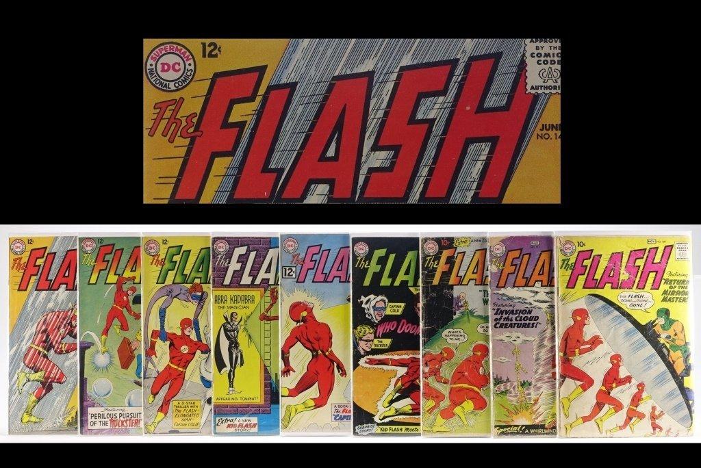 9 Silver Age D.C Flash Comics No. 109-145