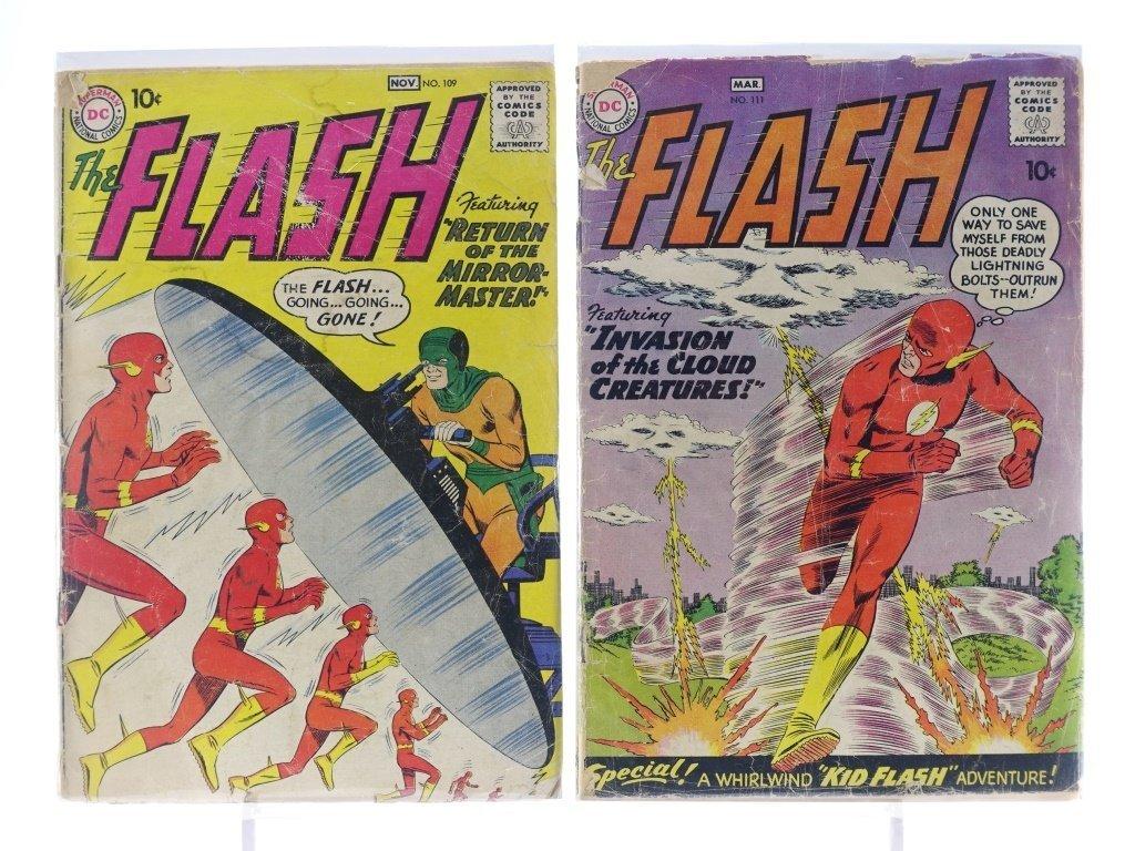9 Silver Age D.C Flash Comics No. 109-145 - 3