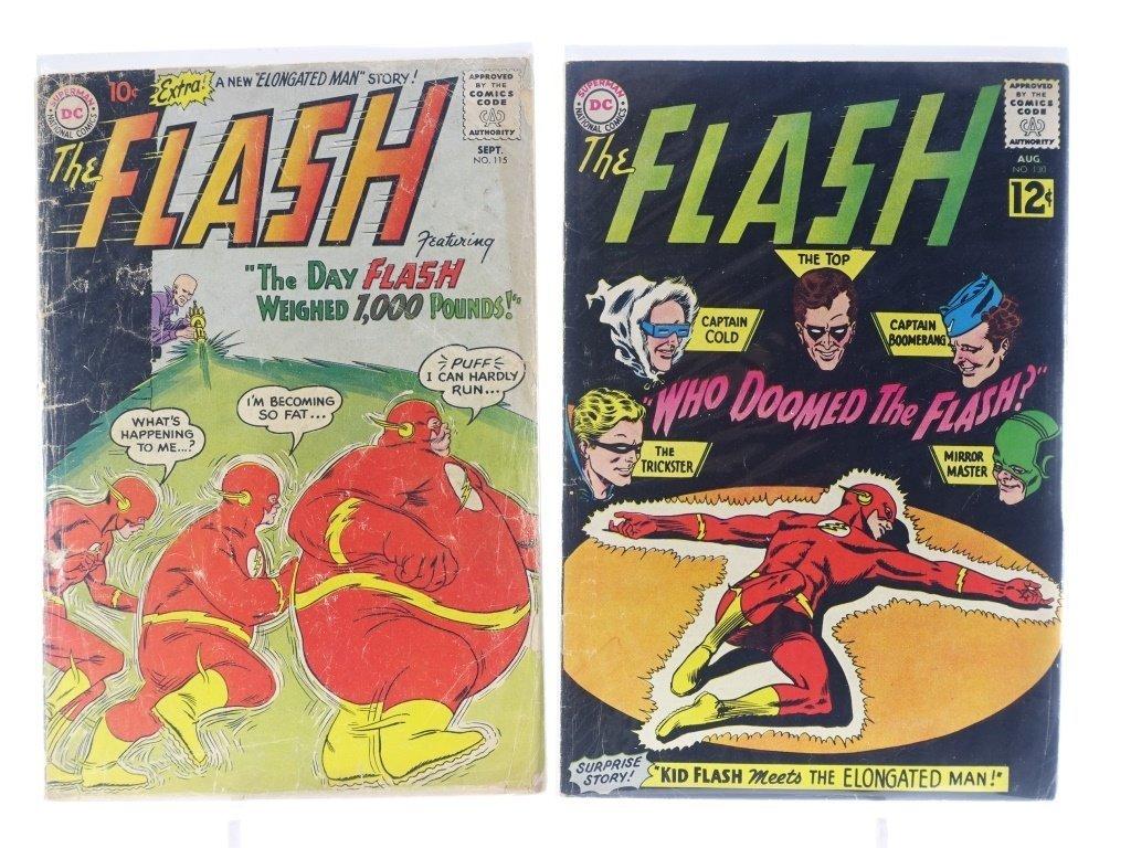 9 Silver Age D.C Flash Comics No. 109-145 - 4