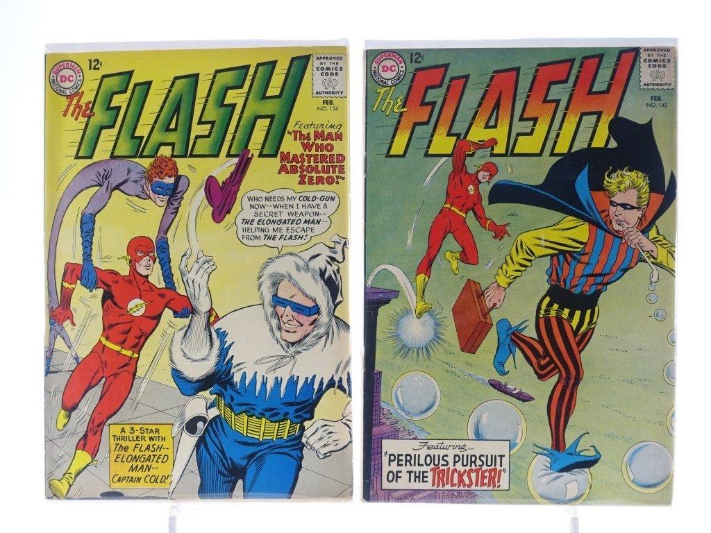 9 Silver Age D.C Flash Comics No. 109-145 - 6