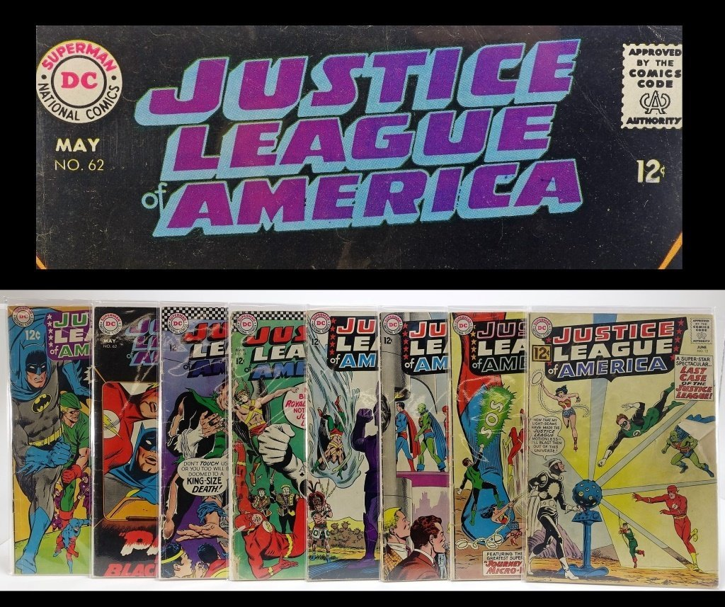 8 Silver Age DC Justice League of America No 12-66