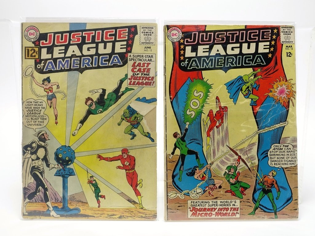 8 Silver Age DC Justice League of America No 12-66 - 2