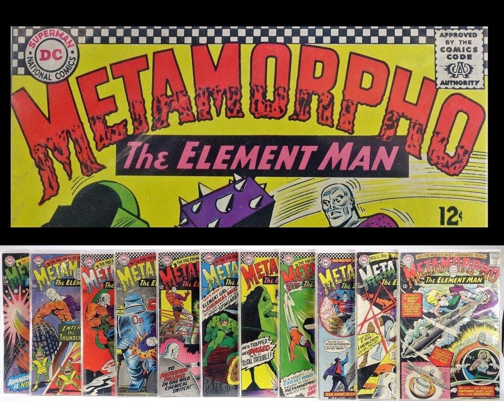 11 Silver Age D.C Comics Metamorpho No. 2-15