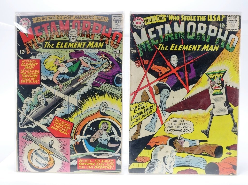 11 Silver Age D.C Comics Metamorpho No. 2-15 - 2