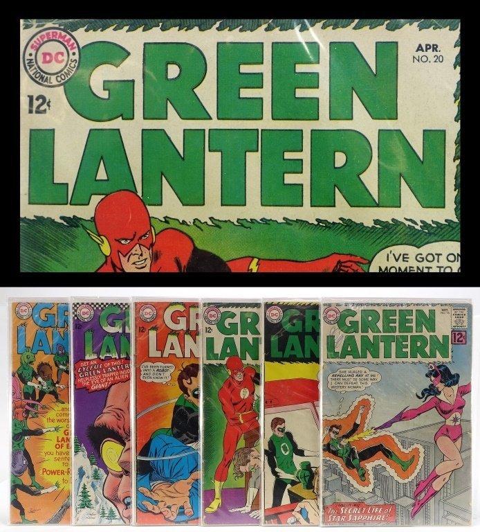 5 Silver Age D.C Comics Green Lantern No. 16-55