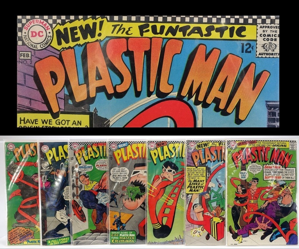 Silver Age D.C Comics Plastic Man Issue Run No.1-7