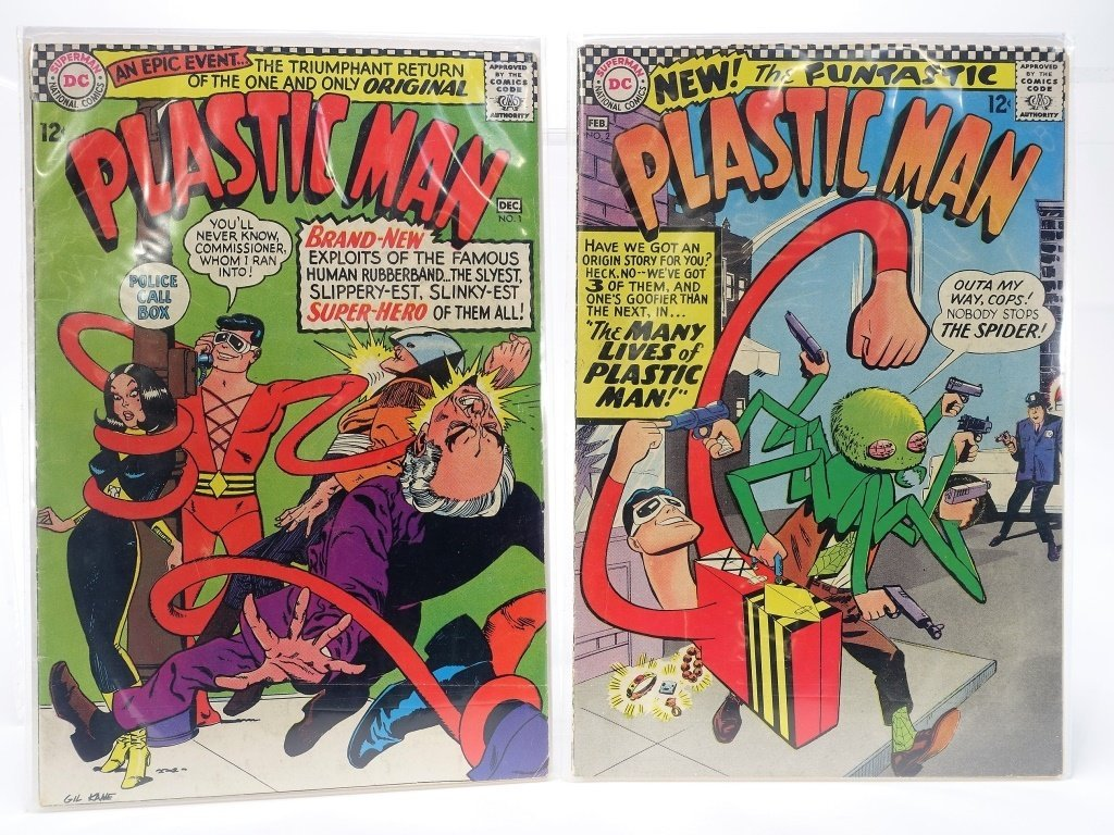 Silver Age D.C Comics Plastic Man Issue Run No.1-7 - 2