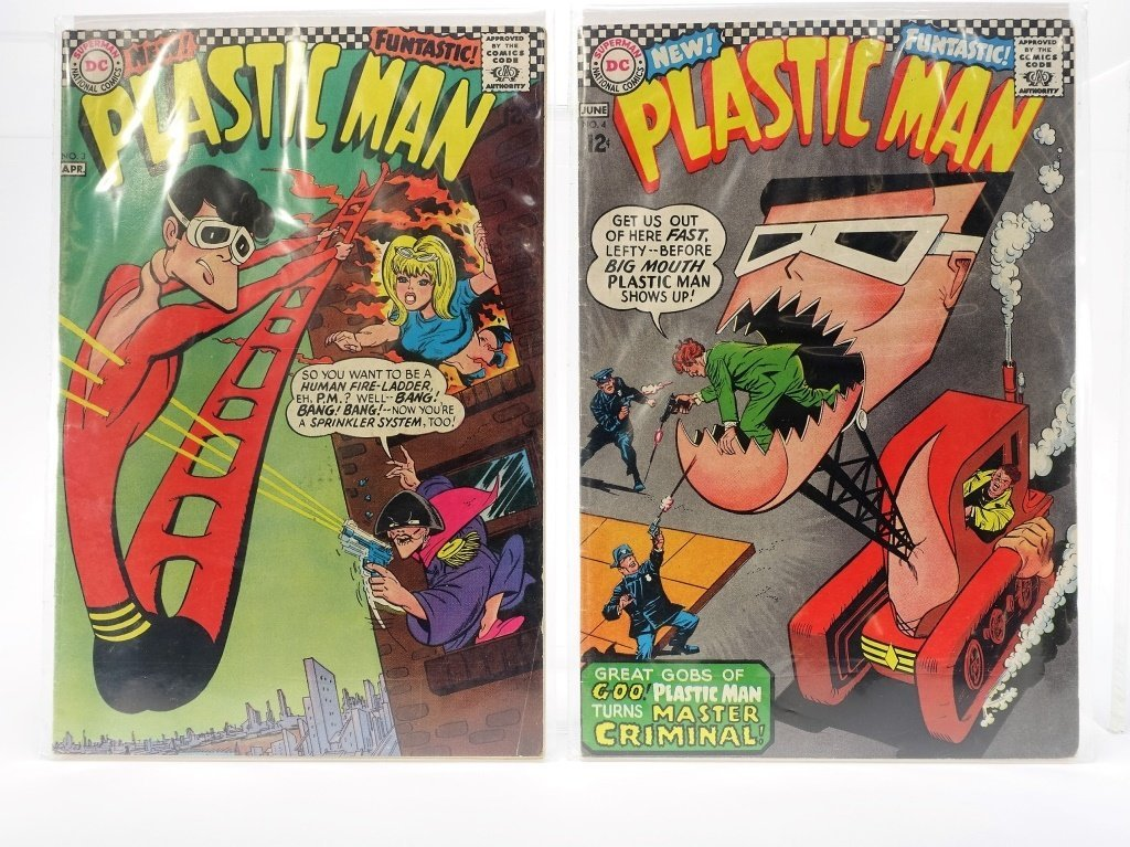 Silver Age D.C Comics Plastic Man Issue Run No.1-7 - 3