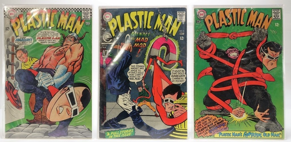Silver Age D.C Comics Plastic Man Issue Run No.1-7 - 4