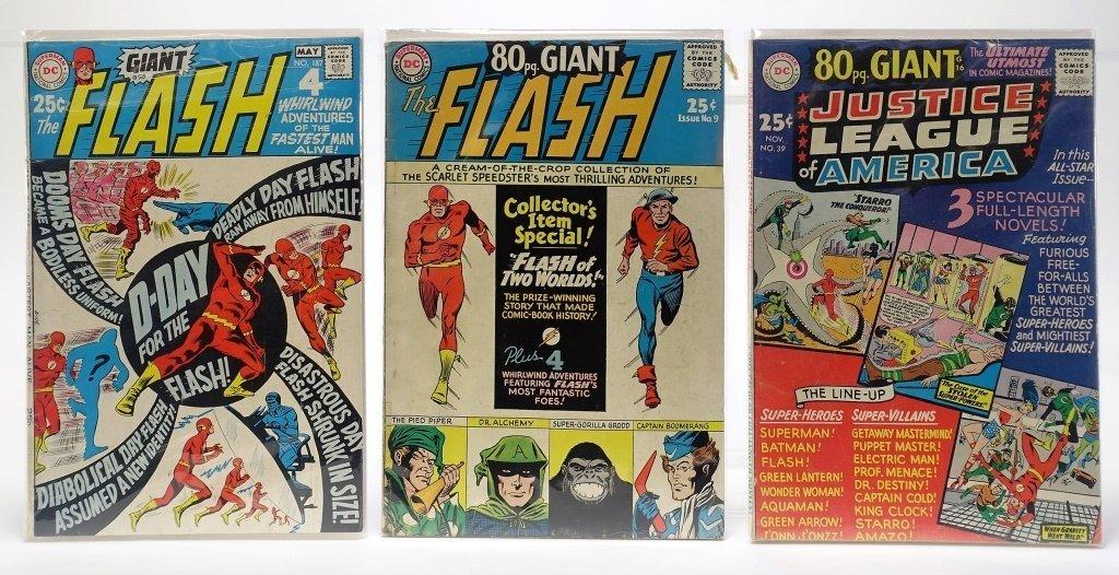 9 Silver Age D.C Comics Giant Flash J.L.A Batman - 3