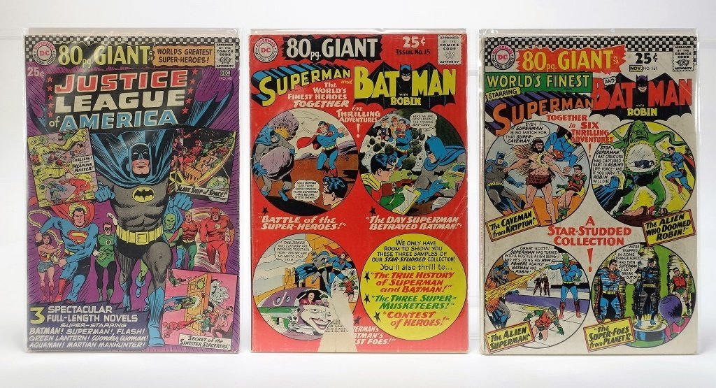 9 Silver Age D.C Comics Giant Flash J.L.A Batman - 4