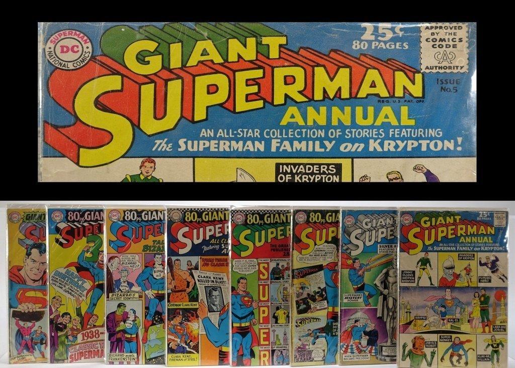 8 Silver Age D.C Comics Giant Super Man