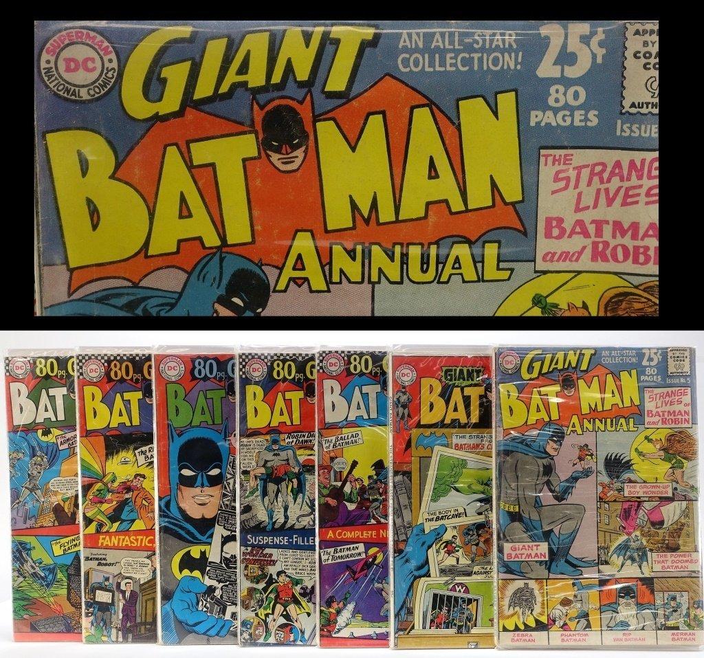 7 Silver Age D.C Comics Giant Batman