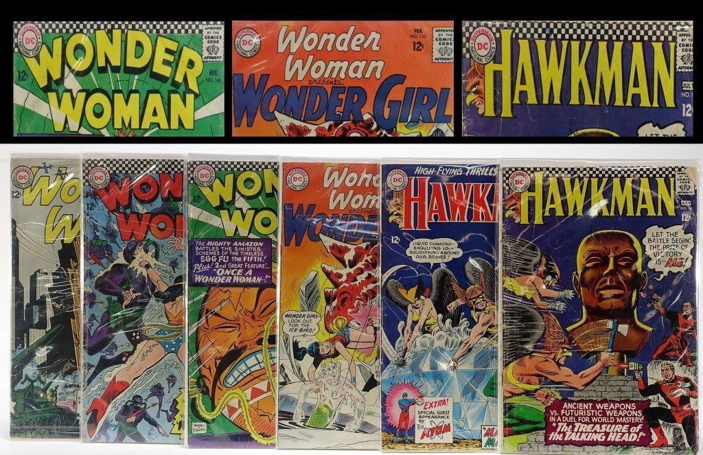 6 Silver Age D.C Comics Hawkman Wonder Woman