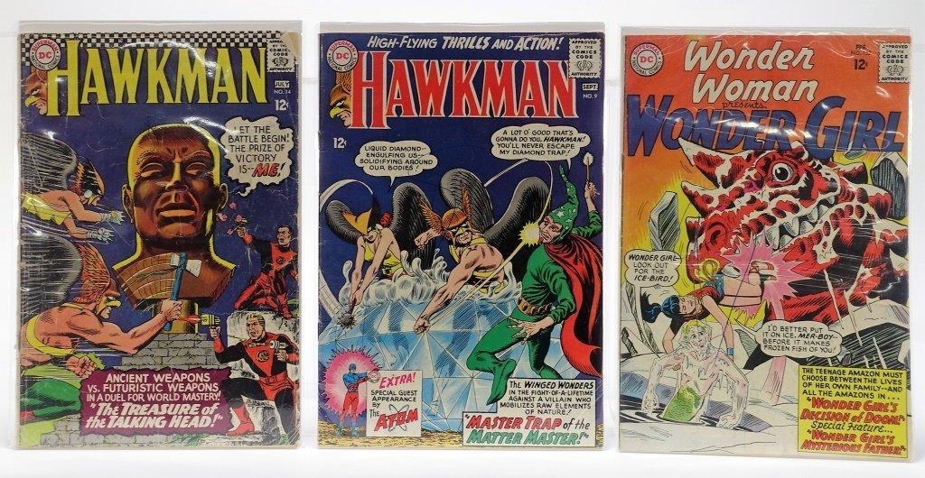 6 Silver Age D.C Comics Hawkman Wonder Woman - 2