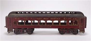 Antique American Hudson NY Cast Iron Train Car