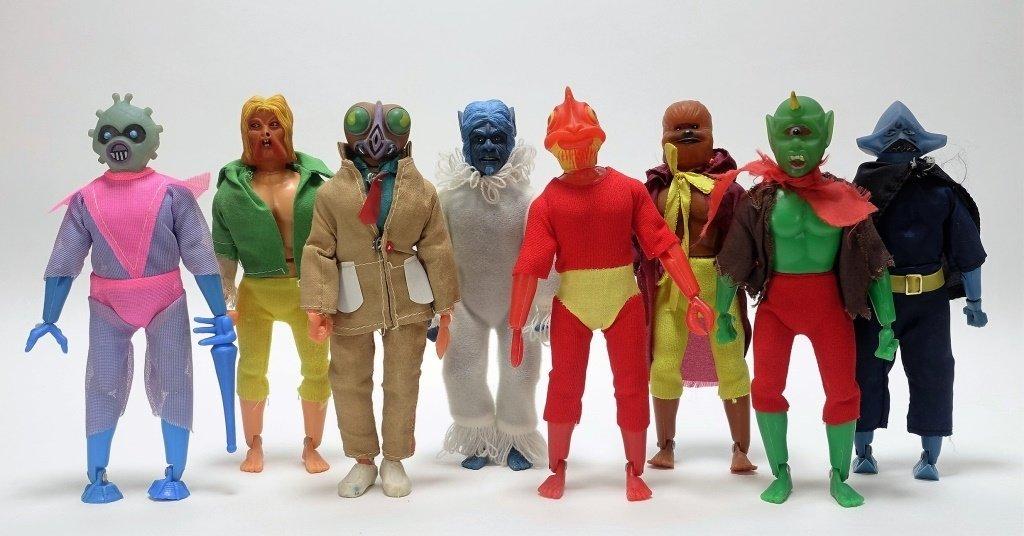 "8 1978 Tomland 8"" Star Raiders Aliens Mego KO"