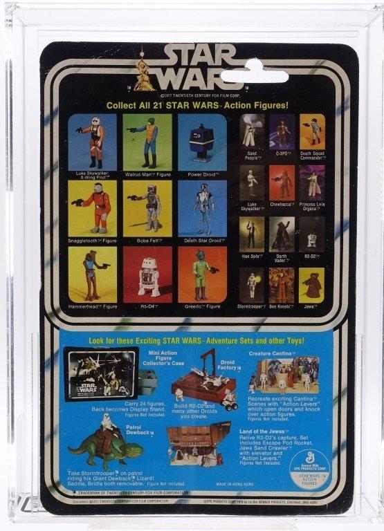 1979 Star Wars 21 Back A Darth Vader AFA 75 - 2