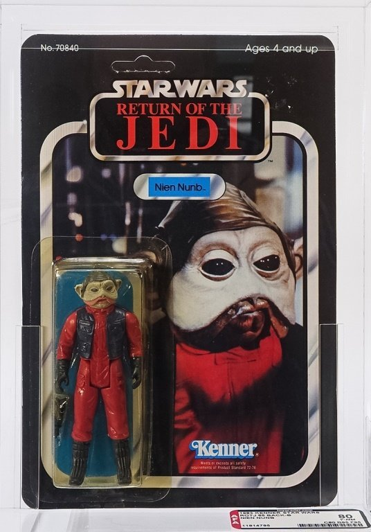 1983 Star Wars ROTJ 65 Back B Nien Numb AFA 80