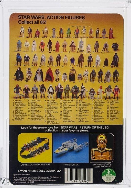 1983 Star Wars ROTJ 65 Back B Nien Numb AFA 80 - 2