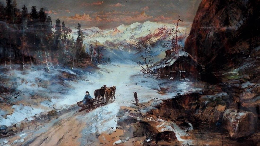 Continental School Bavarian Landscape Painting - 2