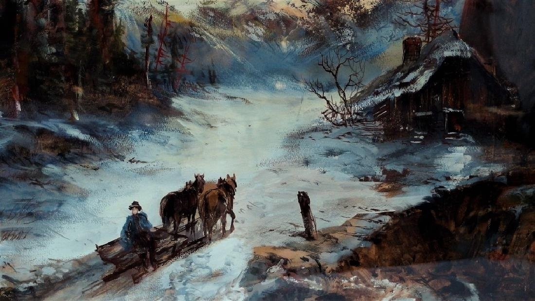 Continental School Bavarian Landscape Painting - 3